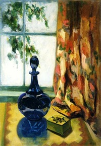 still life with bottle by henry lee mcfee