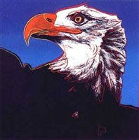 endangered species: bald eagle by andy warhol
