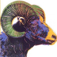 endangered species: big horn ram by andy warhol