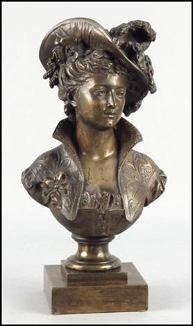 femme au chapeau by jean louis gregoire
