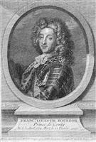 print of franc. louis de bourdon, prince de conty