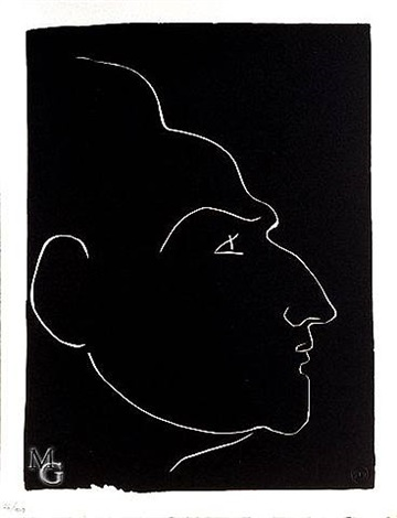 portrait of king minos (henry de montherlant) from the pasiphaé suite by henri matisse