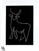 the white bull from the pasiphaé suite by henri matisse
