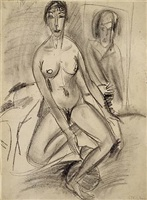 seated nude (erna) by ernst ludwig kirchner
