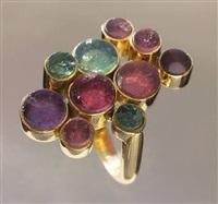 sculptural ring by gilian packard