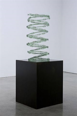 untitled (razor wire light green) by aaron young