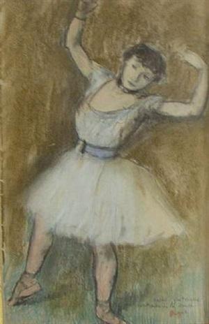 danseuse les bras levés by edgar degas