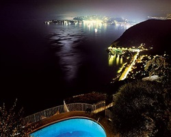 pool beside sea by david drebin