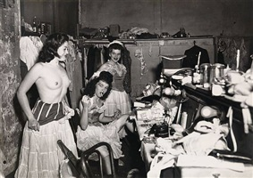 dressing room at a new orleans burly-que by weegee