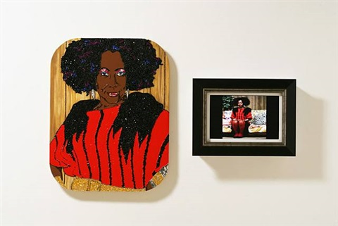 ain't i a woman (sandra) by mickalene thomas