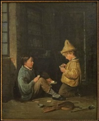 the little card players by edouard frere