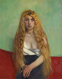 la chevelure blonde by félix edouard vallotton