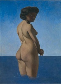 nu debut by félix edouard vallotton