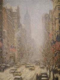 blizzard on 5th avenue (sold) by laurence a. campbell