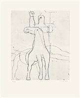 "giocoliere (aus der mappe ""marino marini gravures""(1970)) by marino marini"