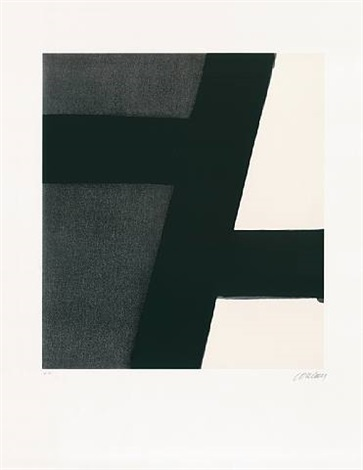 sérigraphie no. 21 by pierre soulages