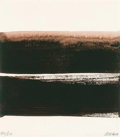 sérigraphie no. 23 (zu nathalie reymond 'soulages - la lumière et l'espace') by pierre soulages