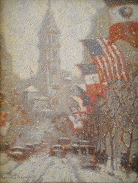 view from the philadelphia museum of art (sold) by laurence a. campbell