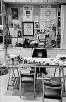 yves saint laurent's study, paris, 1998 by derek hudson