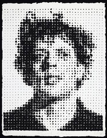 phil houndstooth by chuck close