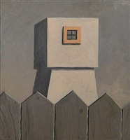 untitled (tower with wooden fence in foreground) by gordon cook