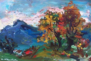 landscape in gruyere by vassyl khmeluk