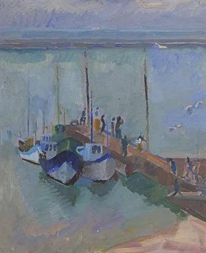 the pier in port maria, quiberon by alfred reth