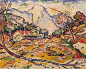 paysage à l'estaque by georges braque