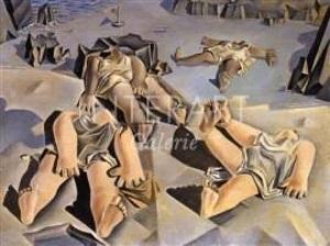femmes couchées sur la plage by salvador dalí