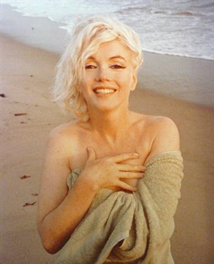 marilyn monroe: hand on chest by george barris