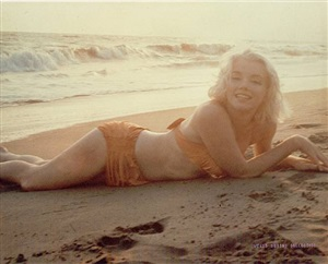 marilyn monroe: sand and sunset by george barris