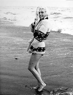 marilyn monroe: wrapped in sweater by george barris