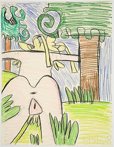 untitled (10/5/08) by carroll dunham