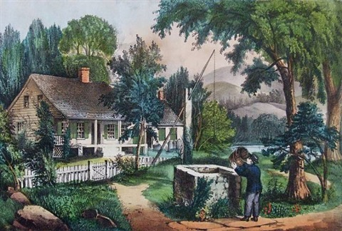 the old oaken bucket by currier & ives (publishers)