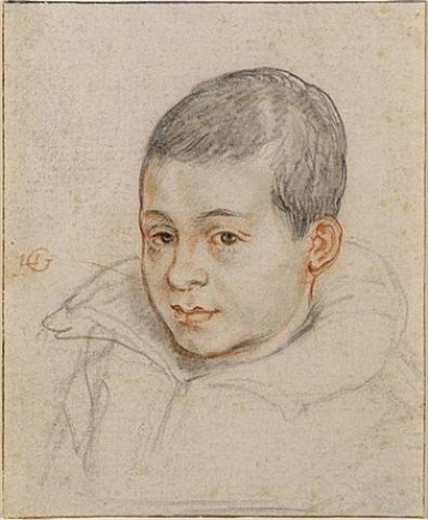 head of a boy by hendrik goltzius