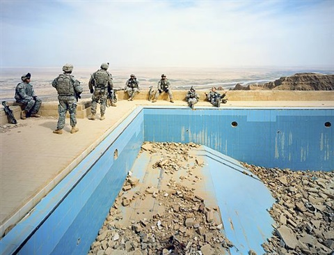 pool at uday's palace (from the breach series) by richard mosse