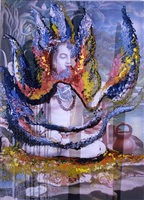 untitled (indian painting) by julian schnabel