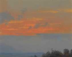 catskill sunset iii by jacob collins