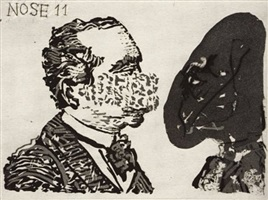 from the 'nose' series by william kentridge