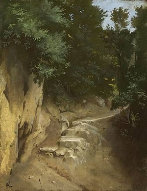 narrow path in the campagna romana by anselm friedrich feuerbach