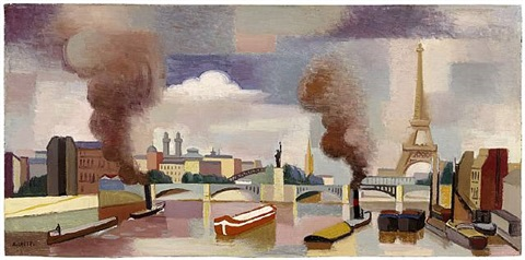 vue de paris ou la seine au point du jour by andré lhote