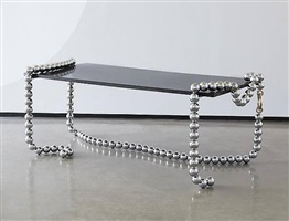 """broken pearl necklace"" desk by mattia bonetti"