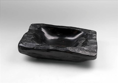 grande coupe en ébène / large ebony bowl by alexandre noll