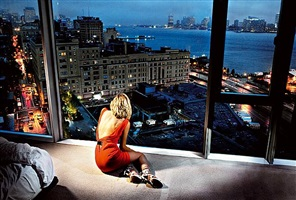 girl in orange dress by david drebin