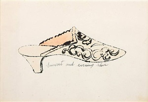sunset and evening shoe (from a la recherche du shoe perdu) by andy warhol