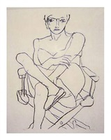 seated woman in chemesse by richard diebenkorn