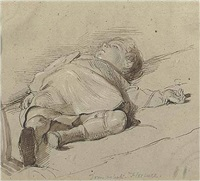 tom asleep in florence by george richmond