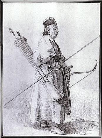calmouk archer by jean-baptiste le prince