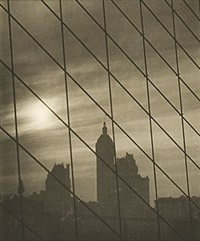 cables on brooklyn bridge by karl struss