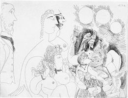 la fete de la patronne, fleurs et baisers degas s'amuse, from the 156 series, 16 may by pablo picasso